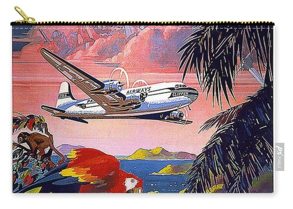 Pan American World Airways - Flying Clippers - Caribbean - Retro Travel Poster - Vintage Poster Carry-all Pouch