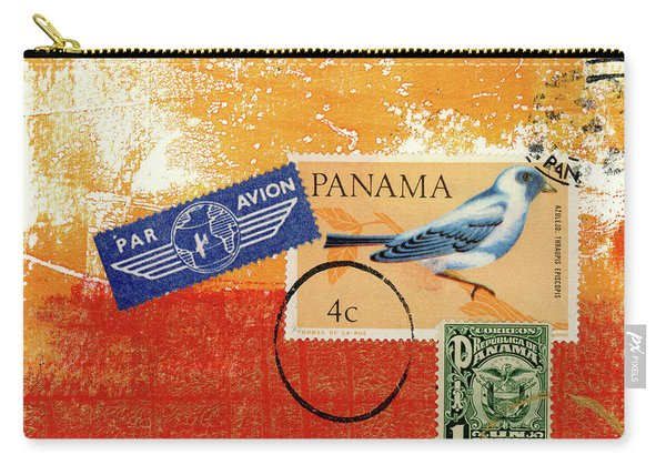 Panama Postal Collage Carry-all Pouch