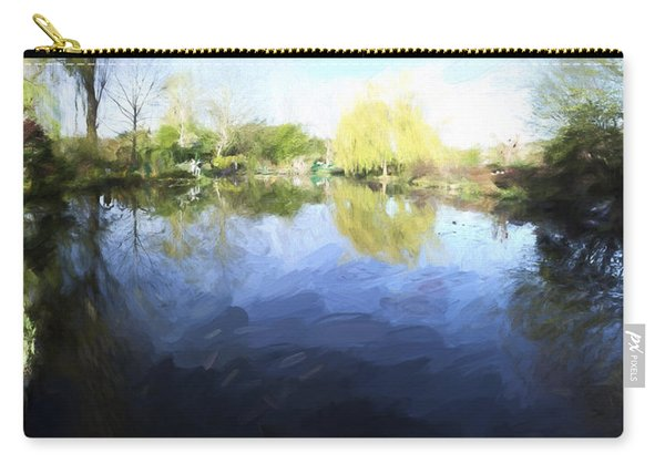 Panorama 2 Of Monets Garden In Giverny Carry-all Pouch