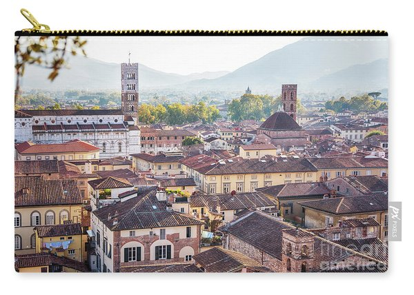 panorama of old town Lucca, Italy Carry-all Pouch