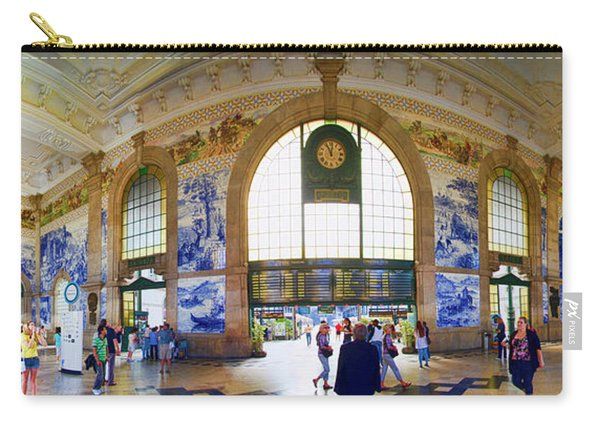 Panorama Of Oporto Train Station Carry-all Pouch