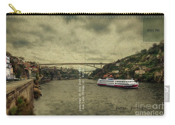 panorama of the Douro river, Dom Luiz Bridge of  Porto, Portugal Carry-all Pouch