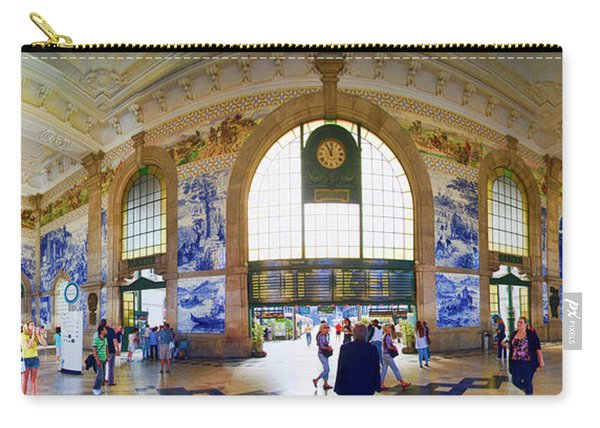 Panorama Of The Sao Bento Train Station In Oporto Portugal Carry-all Pouch