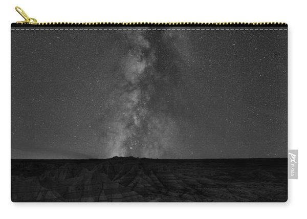 Panorama Point Milky Way Badlands Bw Carry-all Pouch