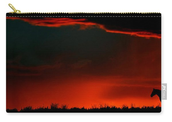Panoramic Horse Sunset Carry-all Pouch