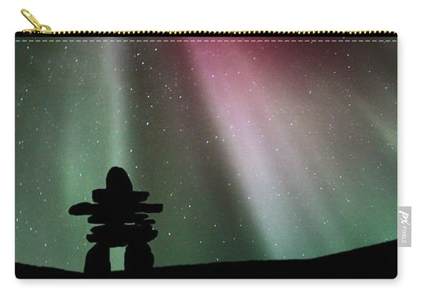 Panoramic Inukshuk Northern Lights Carry-all Pouch