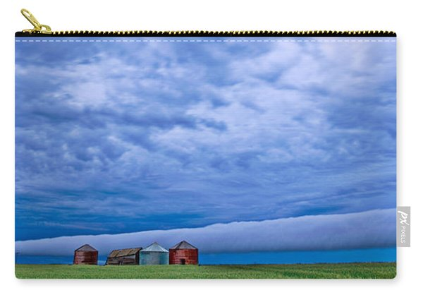Panoramic Prairie Storm  Carry-all Pouch