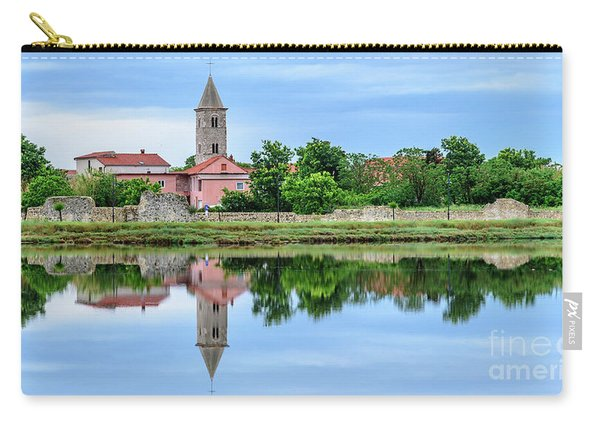 Panoramic Reflections Of Nin, Croatia Carry-all Pouch