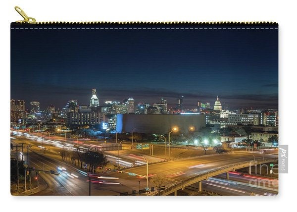 Panoramic View Of Busy Austin Texas Downtown Carry-all Pouch