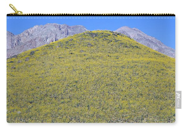 Panoramic View Of Desert Gold Yellow Carry-all Pouch