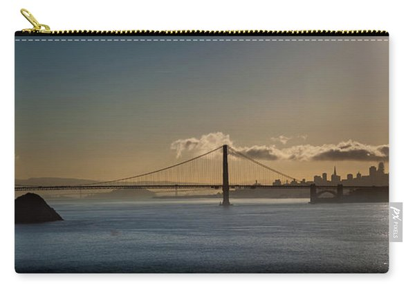 Panoramic View Of Downtown San Francisco Behind The Golden Gate  Carry-all Pouch