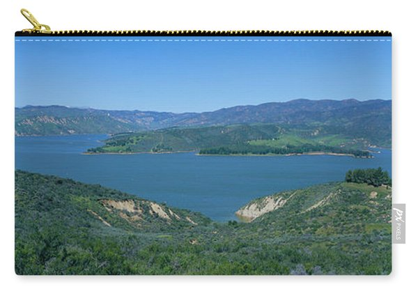 Panoramic View Of Lake Castaic Carry-all Pouch