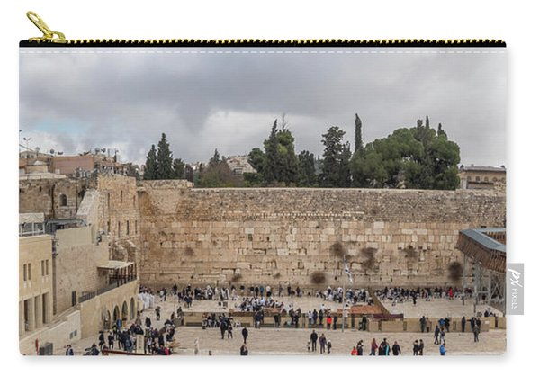 Panoramic View Of The Wailing Wall In The Old City Of Jerusalem Carry-all Pouch