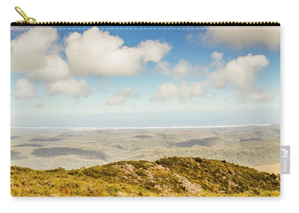 Panoramic Views From Mount Zeehan To Trial Harbour Carry-all Pouch