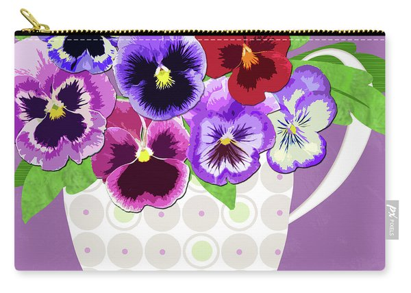 Pansies Stand For Thoughts Carry-all Pouch