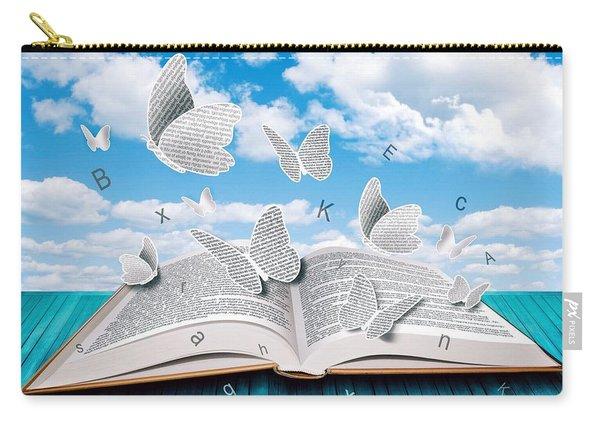 Paper Butterflies Carry-all Pouch