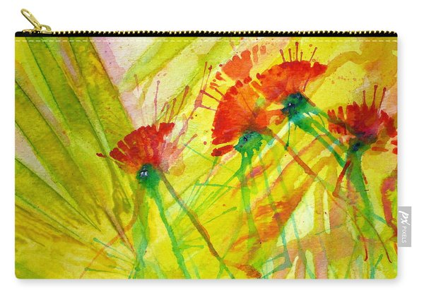 Paper Flowers Carry-all Pouch