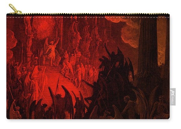 Paradise Lost  Satan In Council Carry-all Pouch
