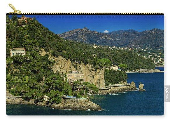 Paraggi Bay Castle And Liguria Mountains Portofino Park  Carry-all Pouch