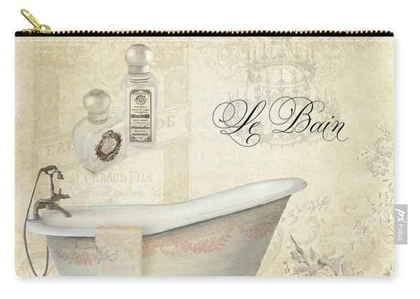 Parchment Paris - Le Bain Or The Bath Chandelier And Tub With Roses Carry-all Pouch