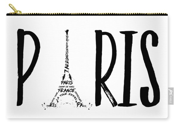 Paris Typography Carry-all Pouch