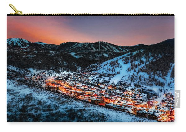 Park City Winter Sunset Carry-all Pouch