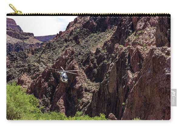 Park Service Helicopter In The Grand Canyon  Carry-all Pouch