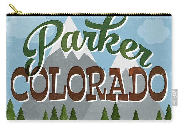 Parker Colorado Snowy Mountains Carry-all Pouch