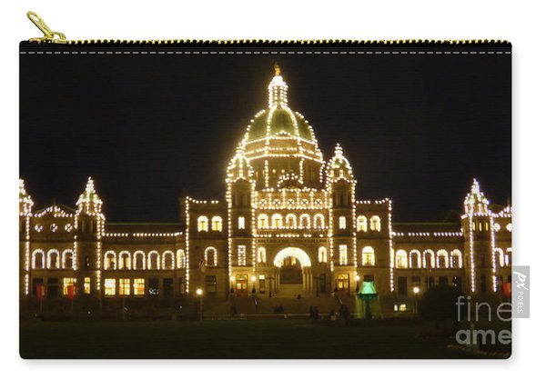 Parliament Building At Night - Victoria British Columbia Carry-all Pouch
