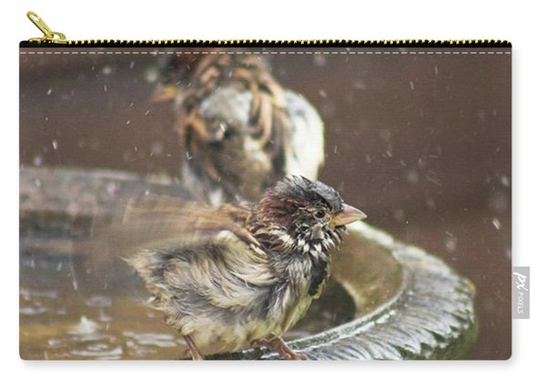 Pass The Towel Please: A House Sparrow Carry-all Pouch