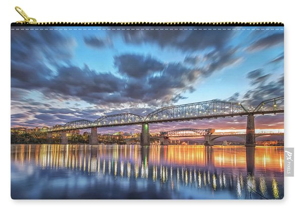 Passing Clouds Above Chattanooga Pano Carry-all Pouch