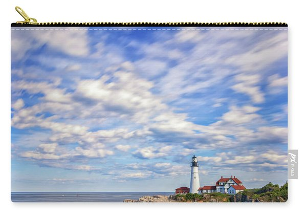Passing Clouds At Portland Head Light Carry-all Pouch