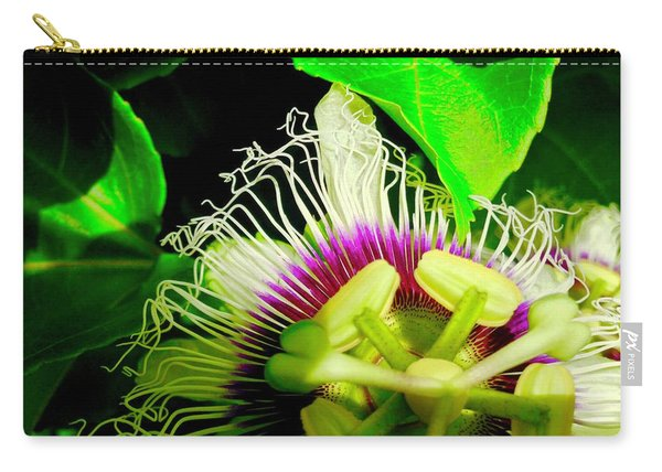 Passion Flower 2 Reflecting Carry-all Pouch