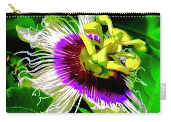 Passion Flower 3 Uplift Carry-all Pouch