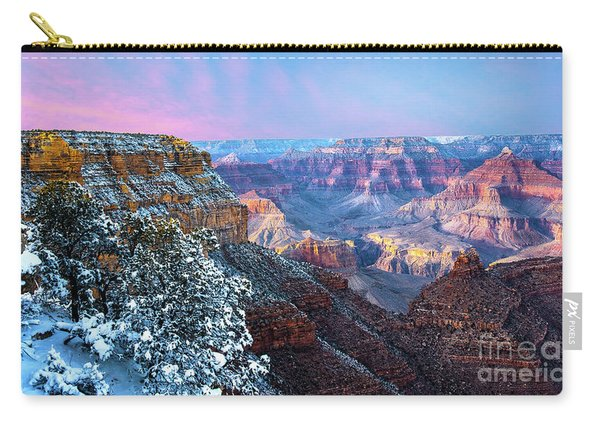 Carry-all Pouch featuring the photograph Pastel Canyon by Susan Warren