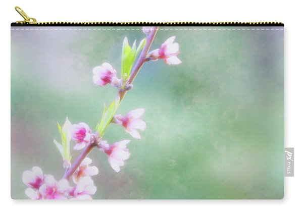 Pastel Painted Peach Blossoms Carry-all Pouch