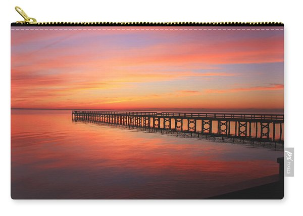Pastels At The Hilton Fishing Pier  Carry-all Pouch