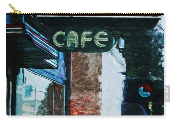 Pastime Cafe- Art By Linda Woods Carry-all Pouch