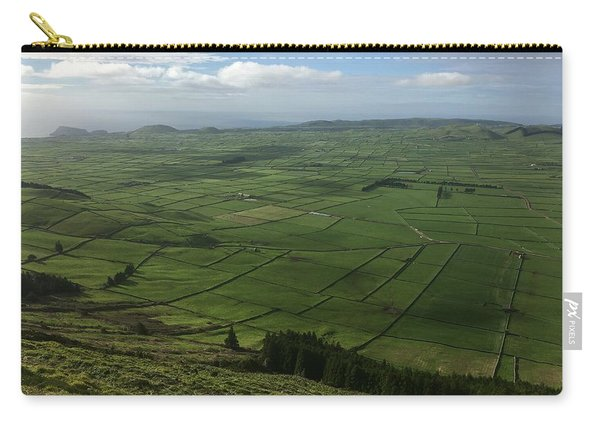 Pastures Inside The Rim On Terceira, Azores, Portugal Carry-all Pouch