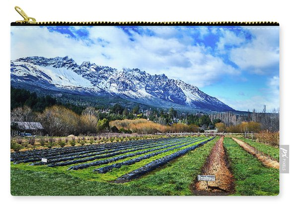 Landscape With Mountains And Farmlands In The Argentine Patagonia Carry-all Pouch
