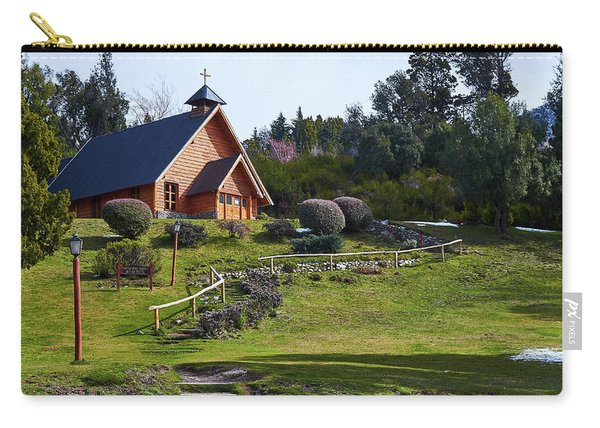 Rustic Church Surrounded By Trees In The Argentine Patagonia Carry-all Pouch