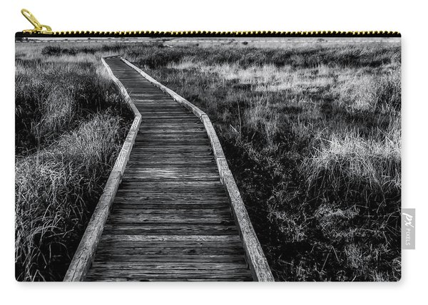 Path To The Sea In Black And White Carry-all Pouch