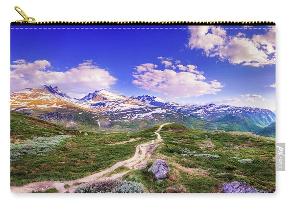 Carry-all Pouch featuring the photograph Pathway To A Valley by Dmytro Korol