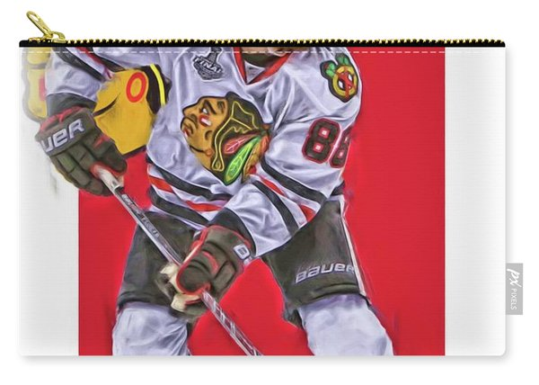 Patrick Kane Chicago Blackhawks Oil Art Series 2 Carry-all Pouch
