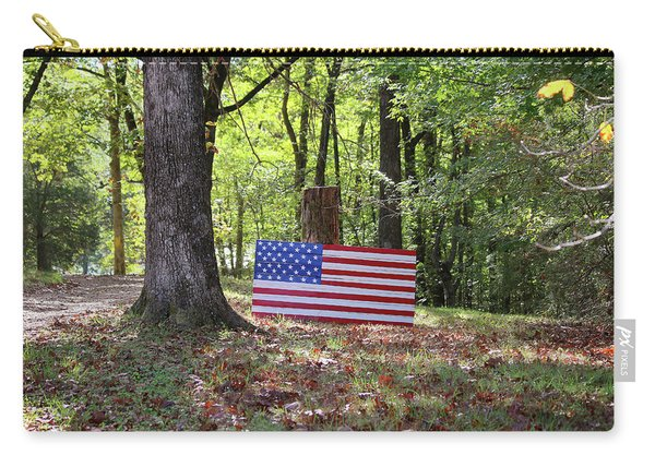 Patriotic Flag In Kentucky Carry-all Pouch