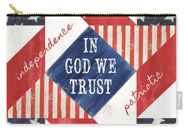 Patriotic Quilt 2 Carry-all Pouch