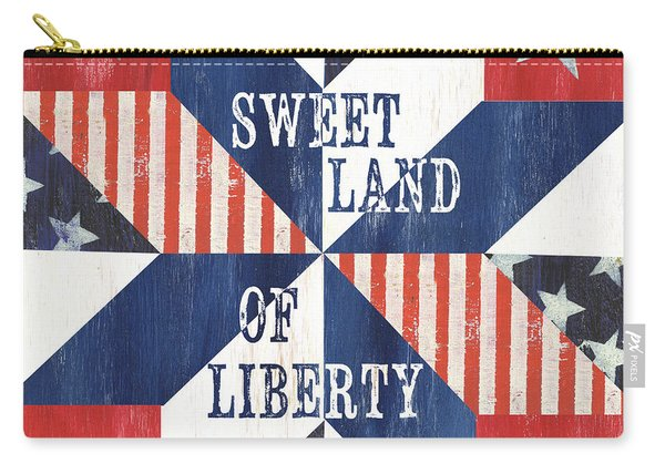 Patriotic Quilt 3 Carry-all Pouch