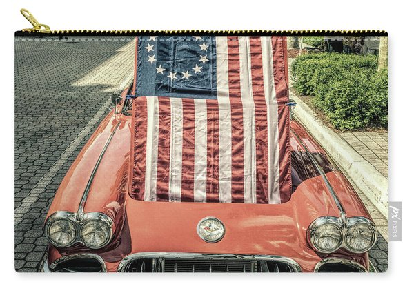 Patriotic Vette Carry-all Pouch