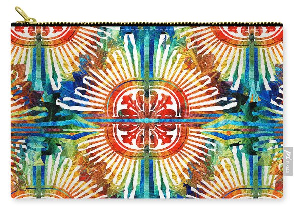 Pattern Art - Color Fusion Design 2 By Sharon Cummings Carry-all Pouch