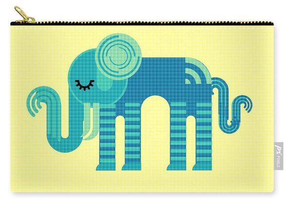 Pattern Elephant Carry-all Pouch